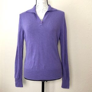 Prive 100% Cashmere sweater v neck pull over top M